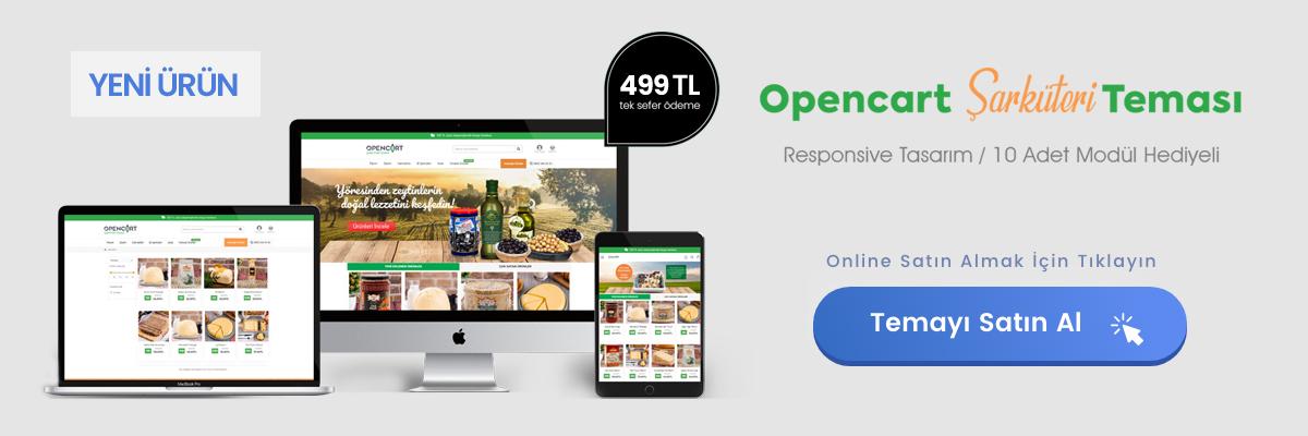 Opencart Şarküteri Teması